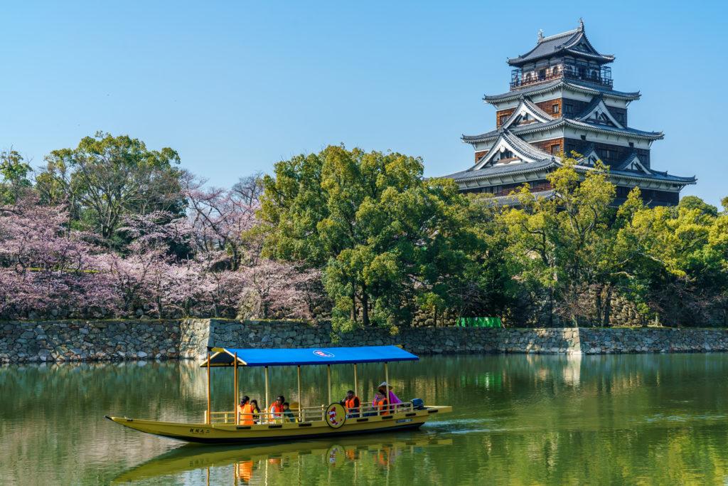fot. Andrzej Skwarczynski (27.03.2018) odbudowany po wojnie Zamek w Hiroszimie, Japonia