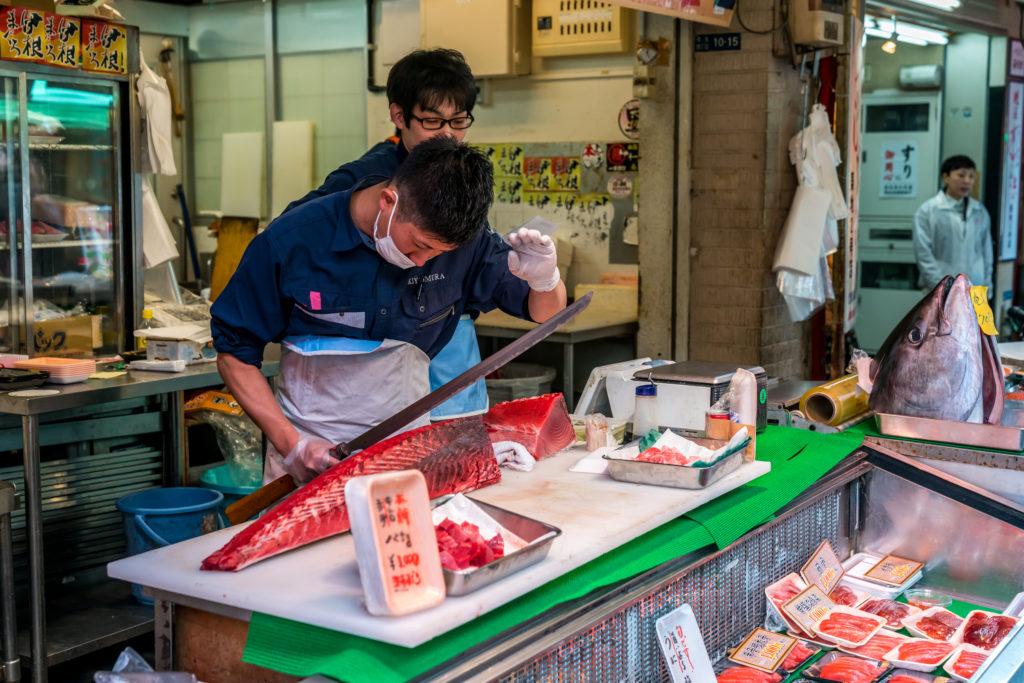 fot. Andrzej Skwarczynski (19.03.2018) targ rybny Tsukija, Tokio, Japonia
