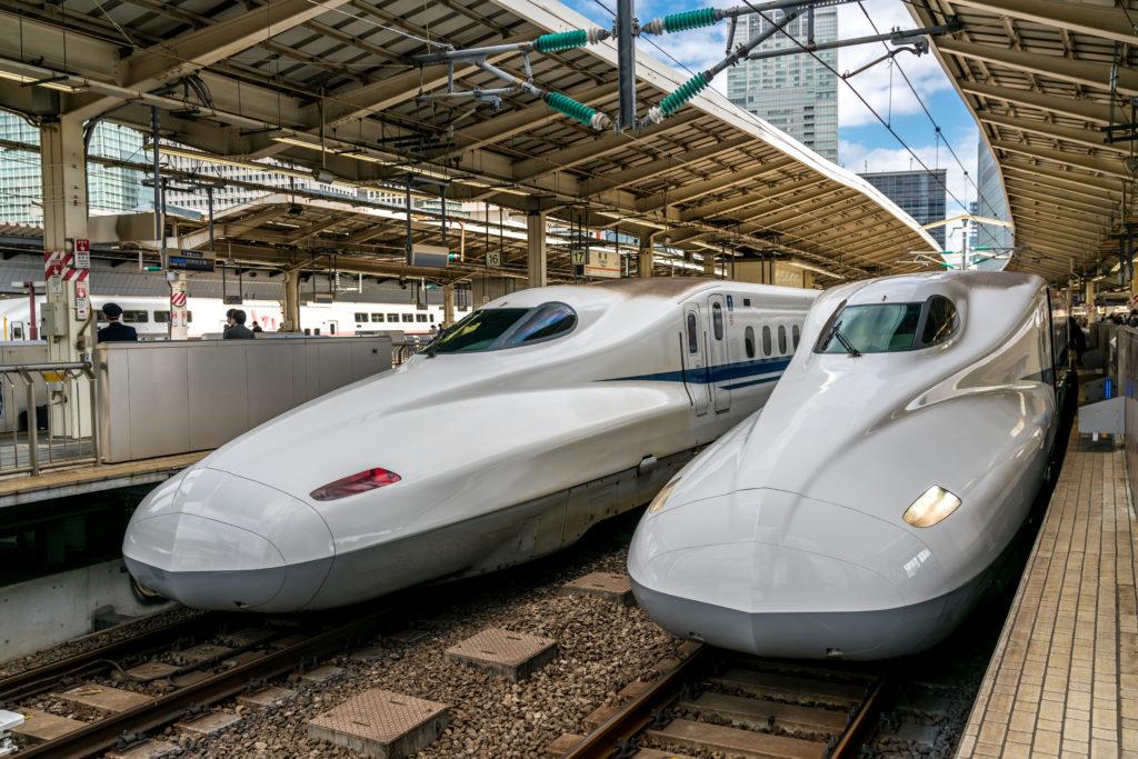 fot. Andrzej Skwarczynski (23.03.2018) Pociag ekspresowy shinkansen, Tokio, Japonia