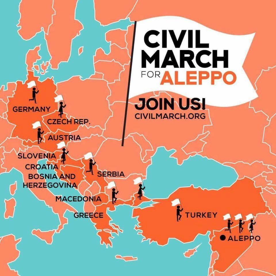 Wyjdź w świat z wiadomością_ Źródło_ #CivilMarchForAleppo